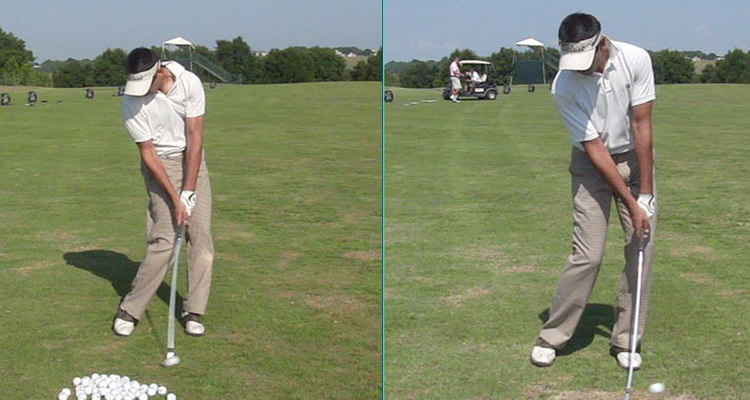 compress the golf ball at impact like this pro